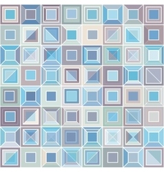 Abstract pattern with square tiles vector