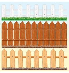 Seamless fences set vector