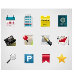 hotel and traveling icons vector image