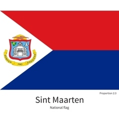 National flag of sint maarten with correct vector