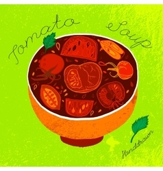 Tomato soup image vector