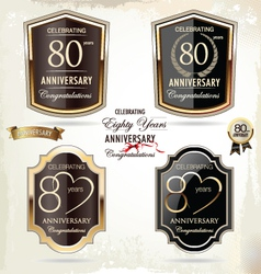 80 years Anniversary labels vector image vector image