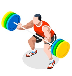 Weightlifting 2016 sports 3d isometric vector