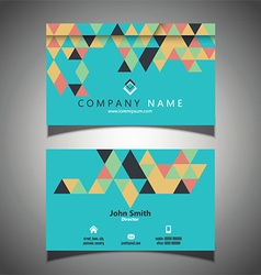 Abstract business card design 1309 vector