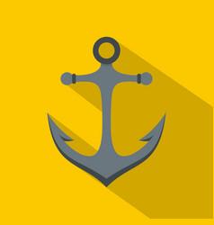 Anchor icon flat style vector