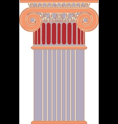 Antique column pillar vector