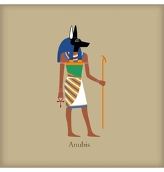 Anubis God of the dead icon flat style vector image vector image