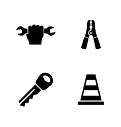 auto service simple related icons vector image vector image