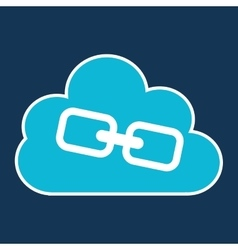 Cloud technology web language link vector