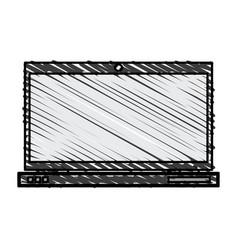 Color crayon stripe image laptop computer tech vector