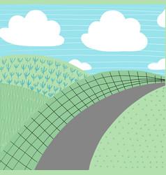 doodles cute backdrop summer theme vector image vector image