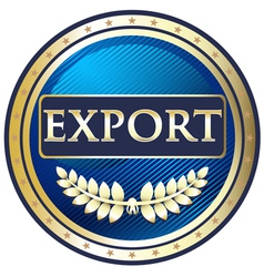 Export Gold Label vector image