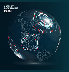 futuristic globalization interface vector image vector image