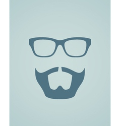 Glasses and beard vector image vector image