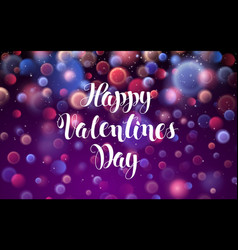 happy valentines day love romantic red abstract vector image vector image