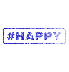 hashtag happy rubber stamp vector image