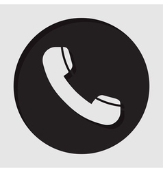 Information icon - old telephone handset vector