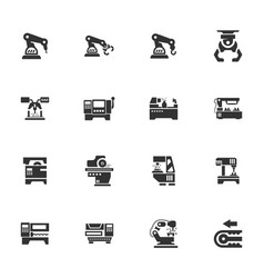 machine tool icons set vector image
