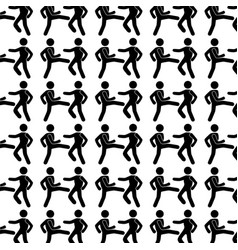 Monochrome background with pattern men martial vector
