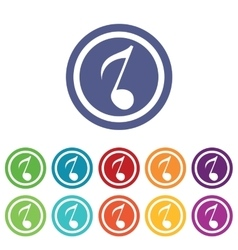 Music signs colored set 3 vector