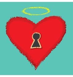 Open your heart vector