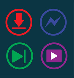Play music downloading icon vector
