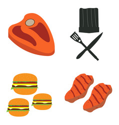 set of barbecue ralted objects vector image vector image