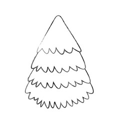 Sketch draw christmas tree vector