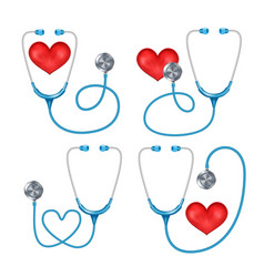 stethoscope phonendoscope set isolated vector image