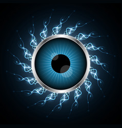 technology cyber security eye light vector image