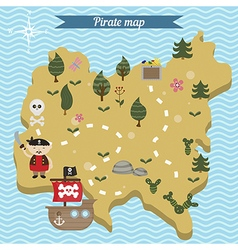 Treasure map theme vector
