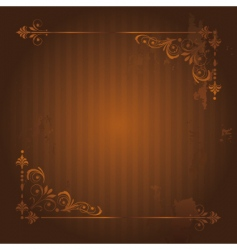 vintage background with grunge elements vector image vector image