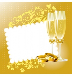 Wedding background vector