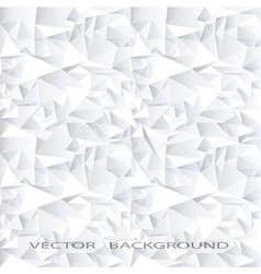 White crystal abstract background vector image