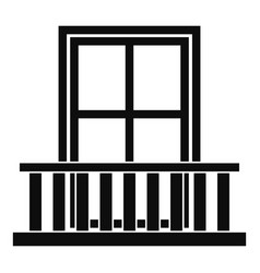 Window with balcony icon simple style vector