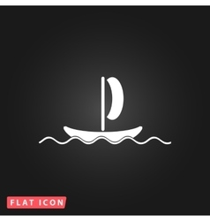 yachts flat icon vector image vector image