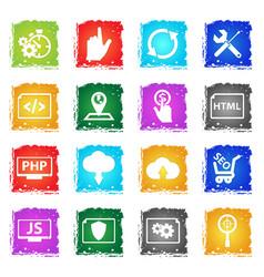 seo icon set vector image