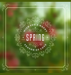 Spring typographic greeting card or poster vector