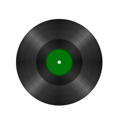 Black vintage vinyl record vector