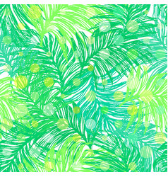 jungle day ink hand drawn seamless pattern vector image
