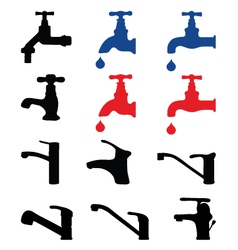Faucets vector