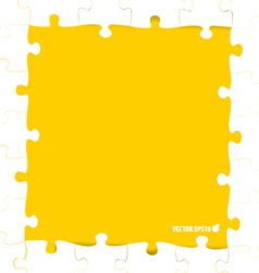 Paper cut of puzzle vector