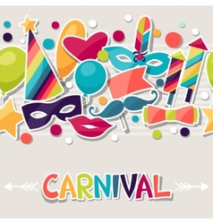 Celebration seamless pattern with carnival vector