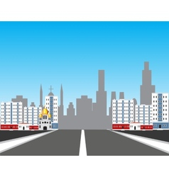 Road in city vector