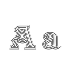 Font tattoo engraving letter a vector