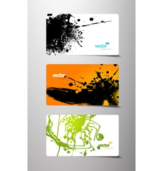 set of gift cards with splash vector image