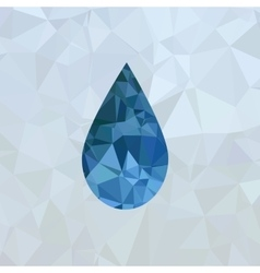 Polygonal blue water drop vector