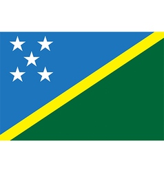 Flag of the solomon islands vector