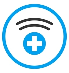 Medical source rounded icon vector