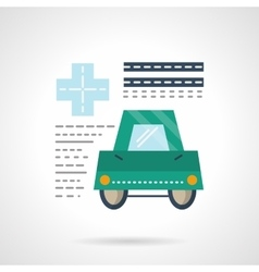 Driver medical insurance flat color icon vector